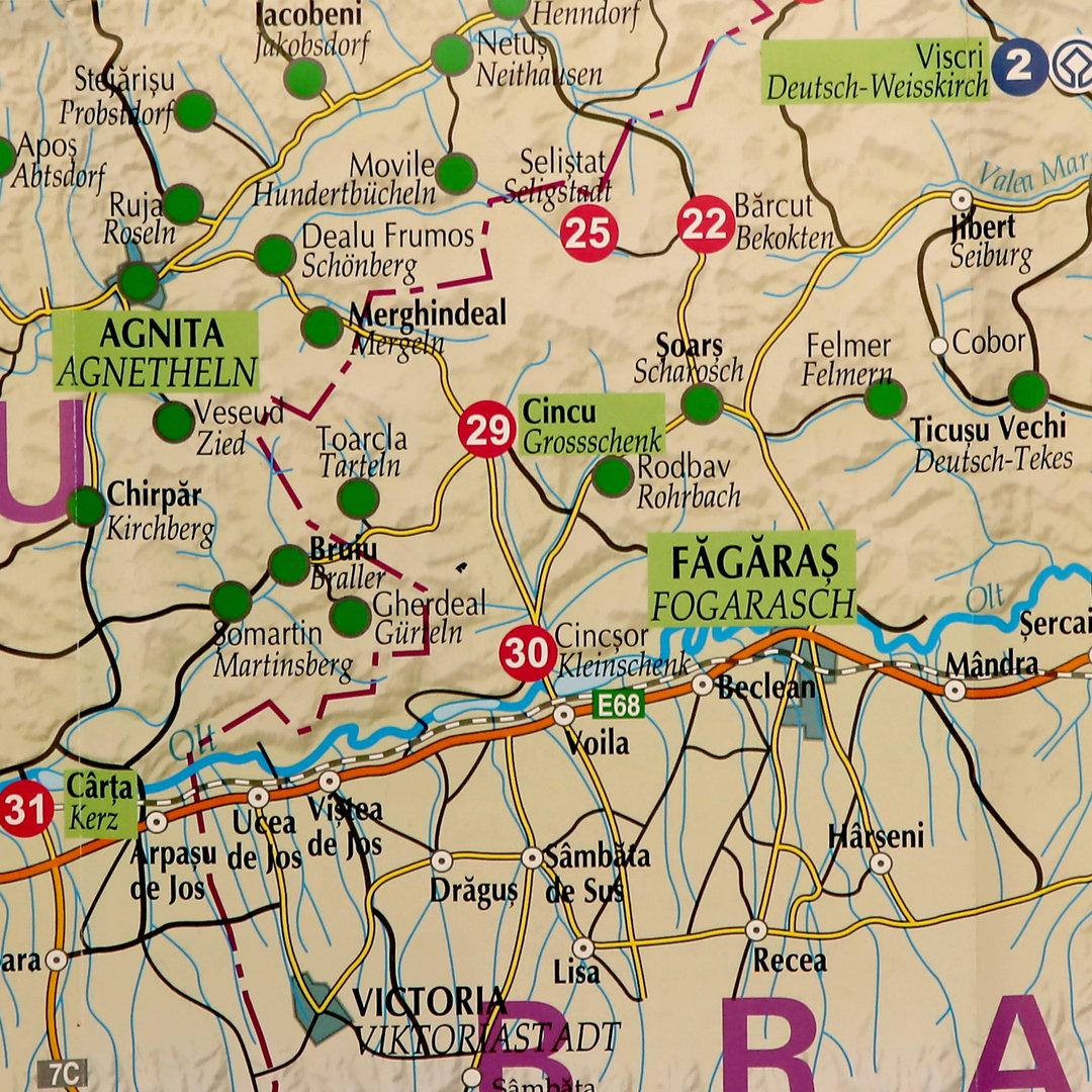 Landkarte Deutsch.Siebenburgen Landkarte 2019 Karte Aktuell Rumanien